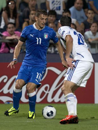 Manolo Gabbiadini ha messo a segno due reti. Afp