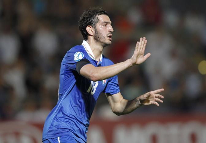 Riccardo Saponara, autore del primo gol dell'Italia Under 21 nel 4-0 a Israele. LaPresse