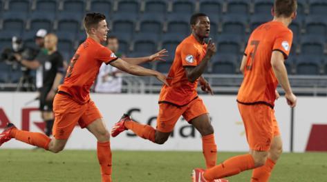 Esultanza oranje dopo il gol di Wijnaldum. Reuters
