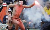 PROTESTA MASCHERATA    - Non il consueto streaker, ma un attivista contro i matrimoni gay, di recente ammessi dalla legislazione francese, ha invaso il centrale del Roland Garros nel corso della finale tra Rafa Nadal e  David Ferrer. Afp