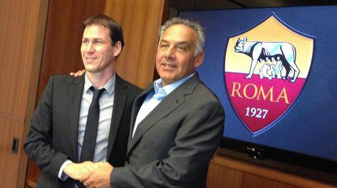 Rudi Garcia, 49 anni, e James Pallotta. Ansa