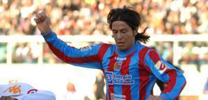 Marco Biagianti, centrocampista del Catania. Ansa