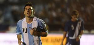 Leo Messi, 25 anni, 35 gol con la maglia dell'Argentina. Afp