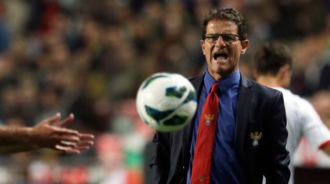 Fabio Capello, attuale c.t. della Russia. Ap