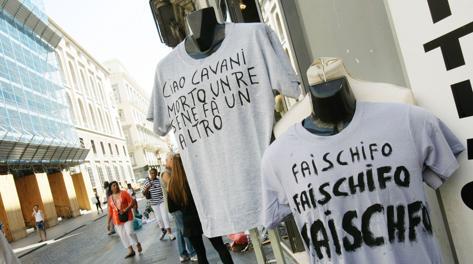 Maglie anti-Cavani a Napoli. Olympia