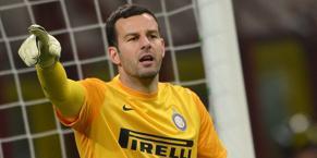 Samir Handanovic, portiere dell'Inter. Bozzani