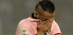 Fabrizio Miccoli, ultima settimana al Palermo prima della scadenza del contratto. Ansa