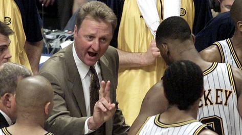 Larry Bird, 56 anni, quando allenava i Pacers. Reuters