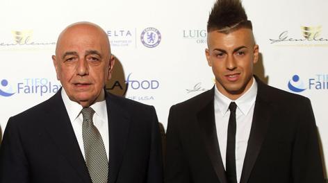 Adriano Galliani con Stephan El Shaarawy. Ansa