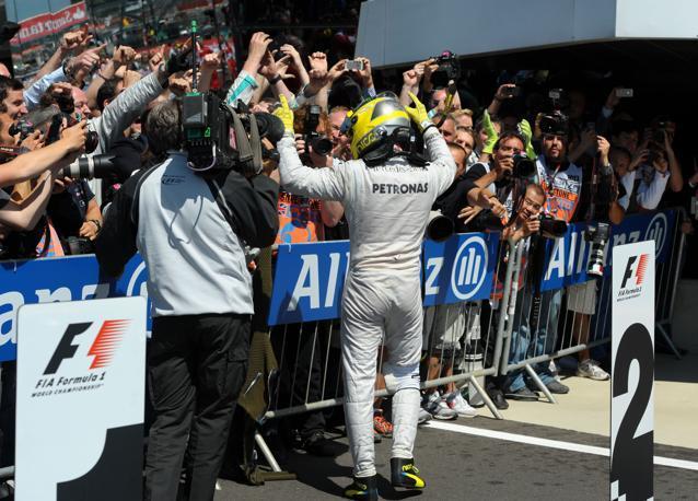 Per  Rosberg  è il momento di festeggiare. Afp