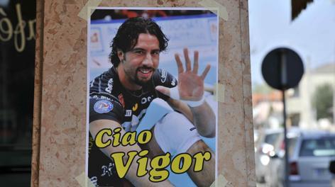 Una foto ricordo di Vigor Bovolenta, scomparso a 37 anni. LaPresse