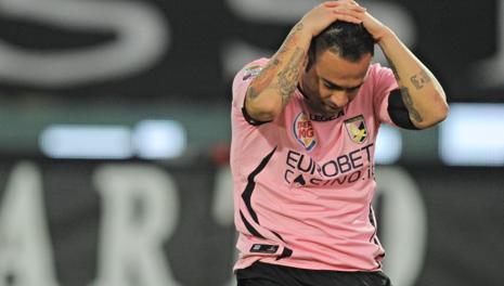 Fabrizio Miccoli, ex Palermo. Ansa