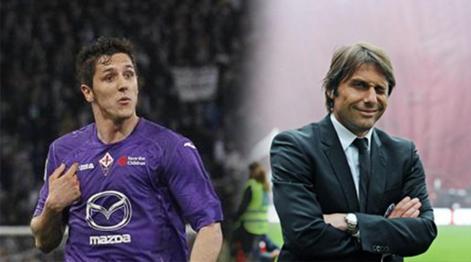 Stevan Jovetic, 23 anni, e Antonio Conte. Ap