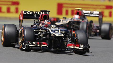 Kimi Raikkonen in pista. AP
