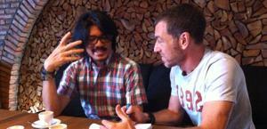 L'imprenditore Felly Imransyah qui con il nostro Fabio Licari