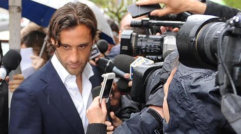 Il centrocampista della Lazio, Stefano Mauri. Ansa