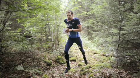 Thierry Gueorgiou, sette volte campione del mondo di orienteering. Afp