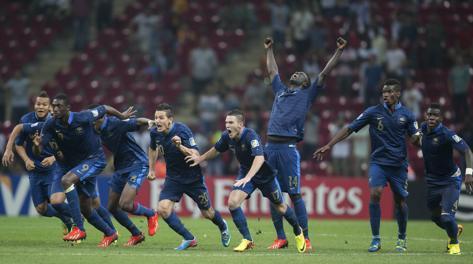 L'esultanza dei giocatori della Francia Ap