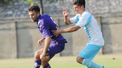 Giuseppe Rossi durante l'amichevole di oggi contro il Montecatini. Ansa
