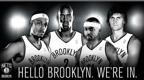 Brooklyn sta celebrando così i nuovi arrivi. brooklynnets.com