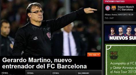 L'annuncio ufficiale sul sito del Barcellona. fcbarcelona.com