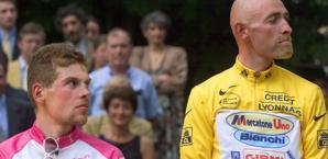 Jan Ullrich e Marco Pantani, secondo e primo al Tour '98. Afp