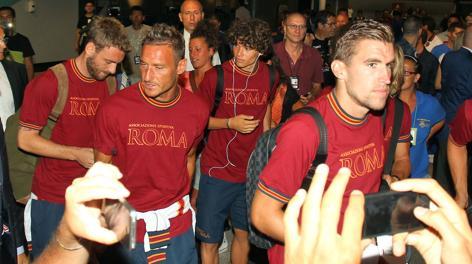 La Roma in partenza per gli Usa. Mancini