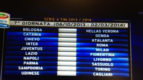 Juve-Milan alla 7ª giornata
