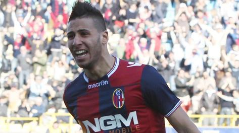 Saphir Taider, 21 anni, centrocampista del Bologna. Ansa
