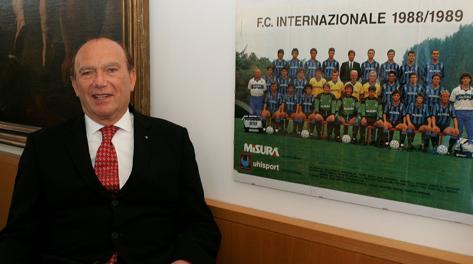 Ernesto Pellegrini, presidente dell'Inter campione d'Italia 1988-89. Archivio Gazzetta