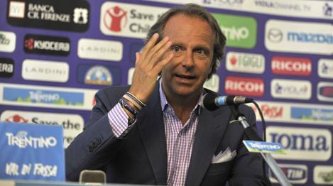 Il presidente della Fiorentina, Andrea Della Valle. LaPresse