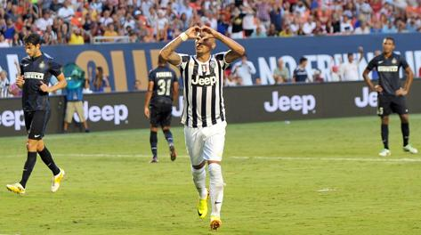 L'esultanza di Vidal dopo il gol dell'1-1. Usa Today