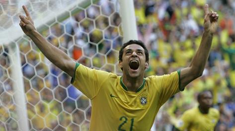 L'attaccante del Brasile Fred, 29 anni. Ap