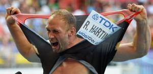 Il tedesco Robert Harting. Afp