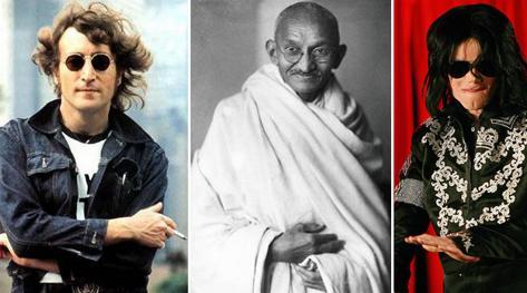 John Lennon Il Mahatma Gandhi E Micheal Jackson