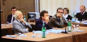 Gli avvocati di Mauri e della Lazio: Gianmichele Gentile, Amilcare Buceti e Matteo Melandri