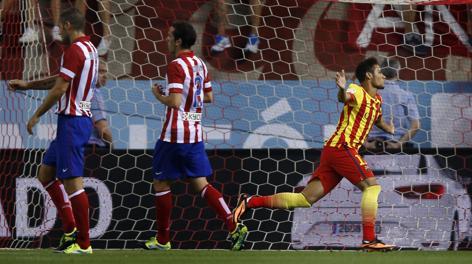 Neymar-gol, Atletico deluso. Ap