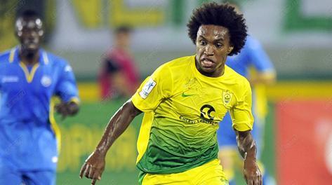 Il brasiliano Willian, 25 anni, con la maglia dell'Anzhi