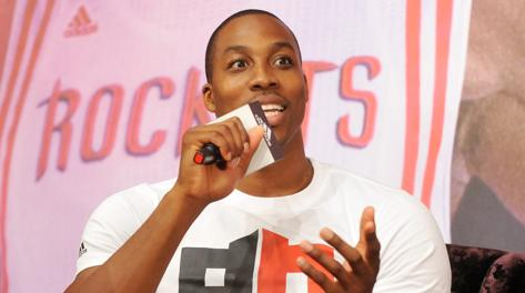 Dwight Howard, 27 anni, nuovo acquisto di Houston. Afp