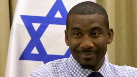 Amar'e Stoudemire, 30 anni, è stato in Israele durante l'estate. Ap
