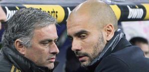 Mourinho e Guardiola: rivali oltre che avversari. Epa