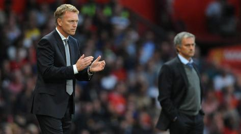 È sfida anche tra tecnici: David Moyes del Manchester e Josè Mourinho del Chelsea. Epa