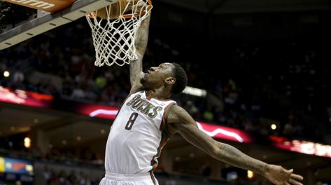 Larry Sanders, 24 anni, da tre stagioni a Milwaukee. Afp