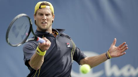 Andreas Seppi in azione a Flushing Meadows. Afp