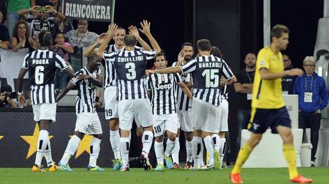 Esulta la Juve straripante: è 4-1 sulla Lazio. LaPresse