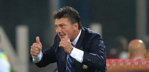 Walter Mazzarri, tecnico dell'Inter. Ap