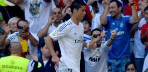 Cristiano Ronaldo al primo gol stagionale. Afp