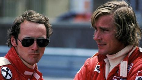 Niki Lauda e James Hunt nel 1976. Ansa
