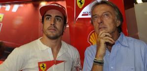 Fernando Alonso con Luca di Montezemolo. Colombo