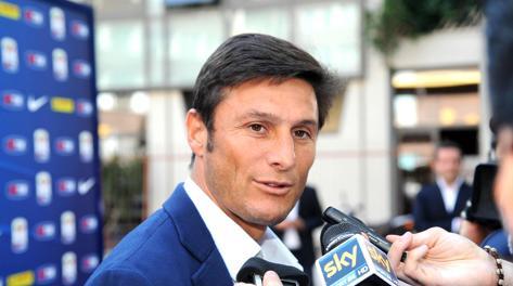 Il capitano dell'Inter Javier Zanetti. Ansa